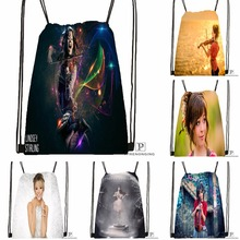 Custom Lindsey Stirling Drawstring Backpack Bag Cute Daypack Kids Satchel (Black Back) 31x40cm#180531-04-63