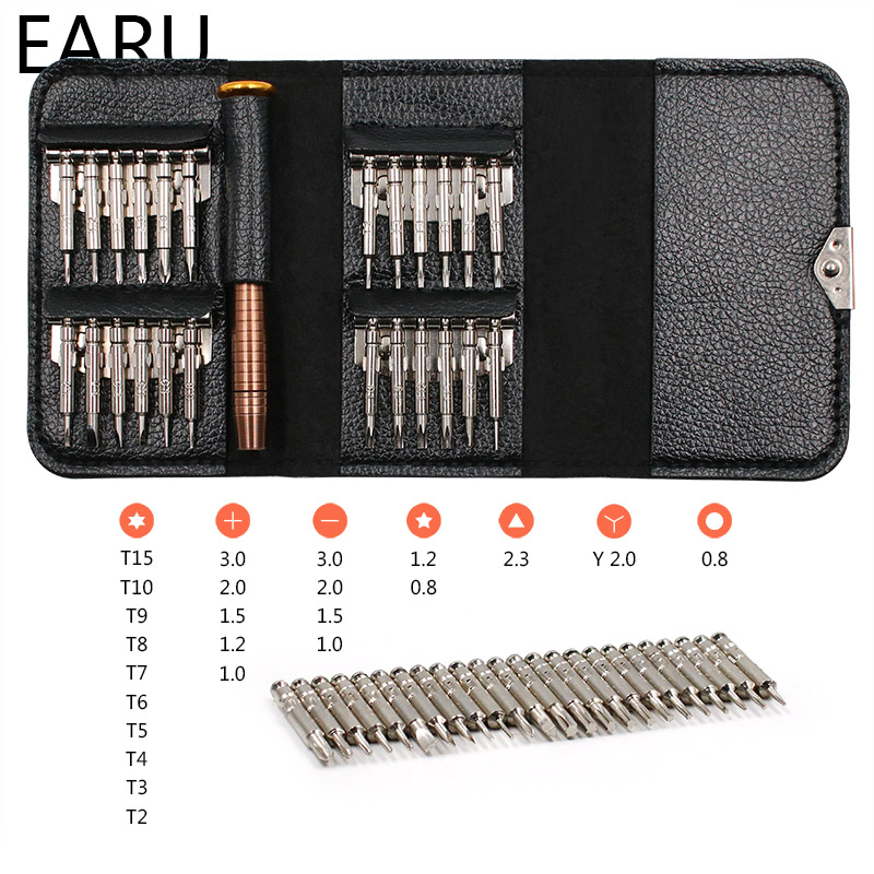 Screwdriver Set 25 in 1 Torx Multifunctional Opening Repair Tool Set Precision Screwdriver For Phones Tablet PC HEX TROX DIY KIT(China)