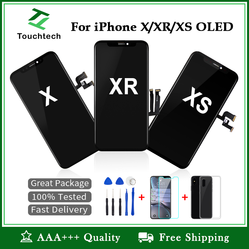 For iPhone X LCD Display With Digitizer Replacement Assembly Parts Black OLED&TFT for iPhone X XR XS Touch Screen No Dead Pixel|Mobile Phone LCD Screens|   - AliExpress