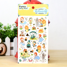 15 pcs/Lot Funny sticker world Fairy tale The wizard of OZ stickers decoration scrapbooking tools album gift Stationery FT926
