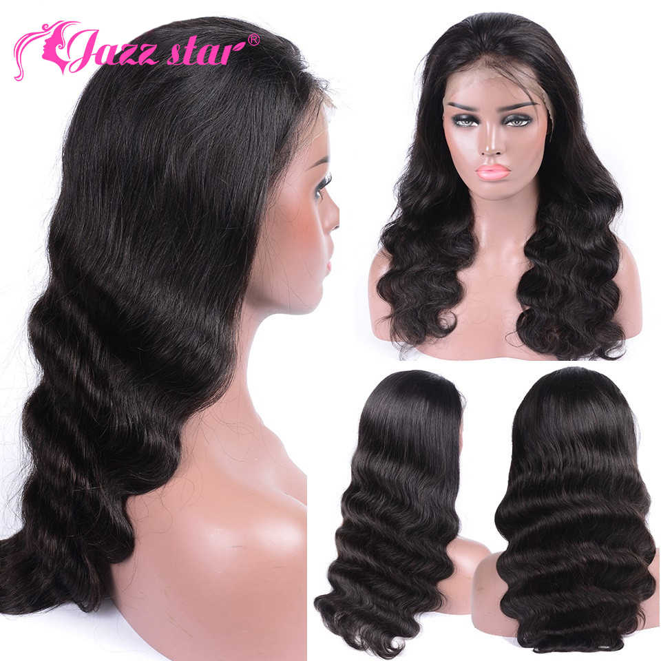 9abecdc7a2c Brazilian Wig Body Wave Wig 360 Lace Frontal Wig Pre Plucked With Baby Hair  Lace Front Human Hair Wigs Jazz Star Non Remy Hair