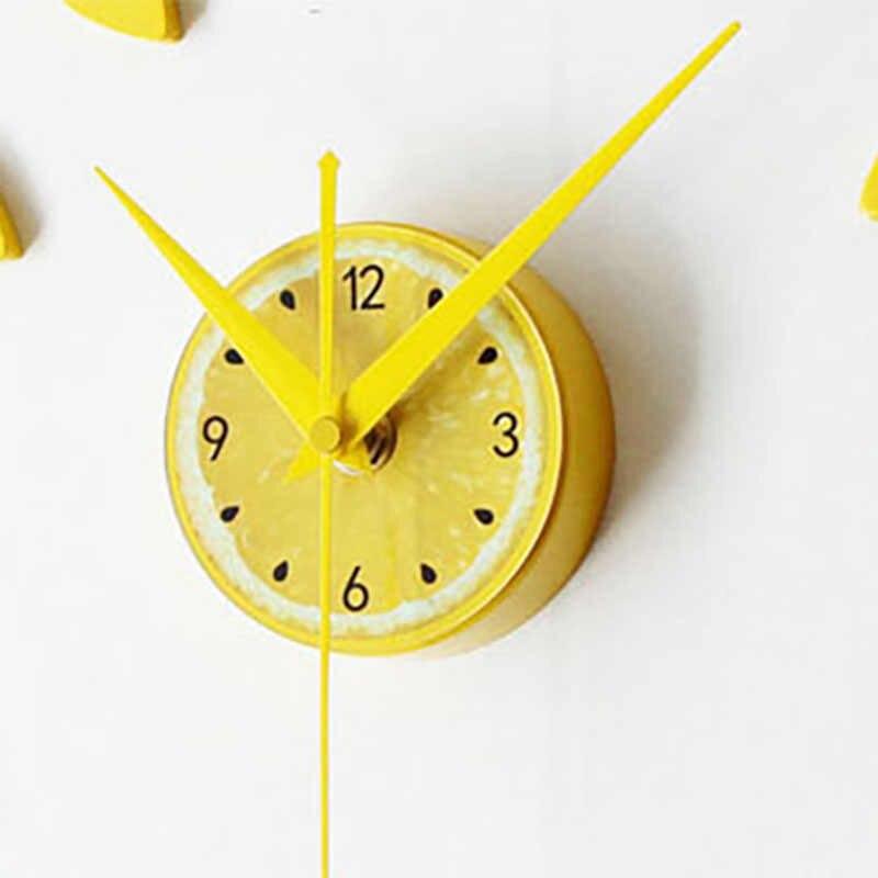 2018 nuevo diseño verde limón pegatina EVA 60CM Reloj de pared color grande decorativo 3d Diy Reloj de pared para cocina habitación de niños