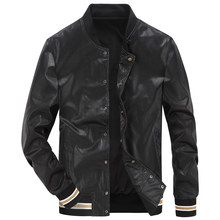 High quality faux leather jacket men brand AFS JEEP man leather jacket casual bomber baseballs jacket veste homme streetwear man(China)