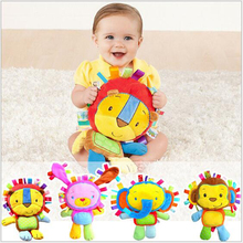 2016 1pcs Selling plush Toys Appease Baby Rattles Belt BB is Filled Doll lion Elephants Rabbits Gift Monkey 4 Paragraph x312