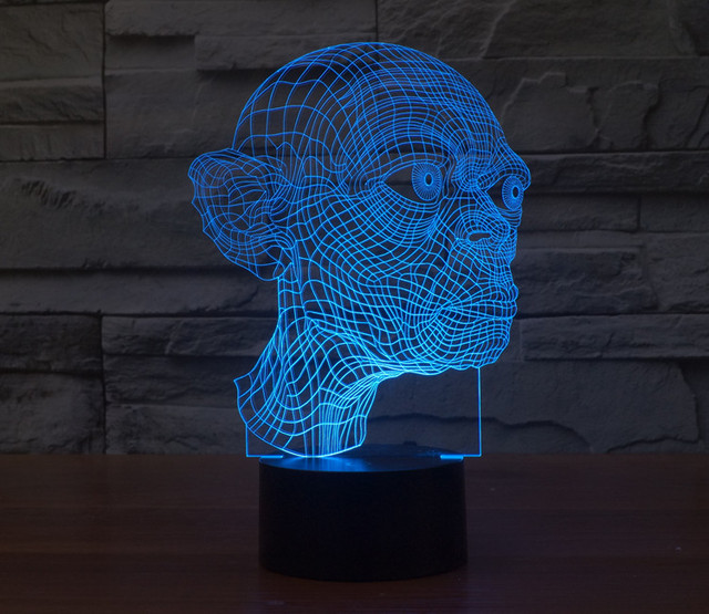 The Lord of the Rings Gollum LED Lamp 3D