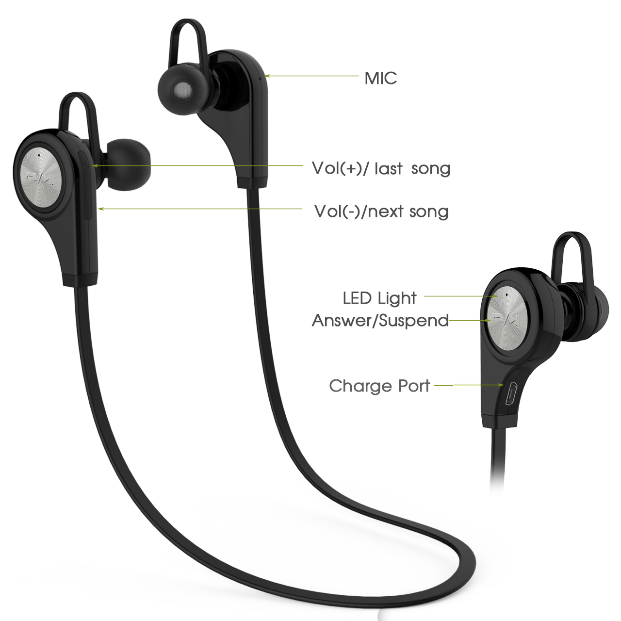 Q9 Sports Bluetooth Headsets CSR4.1 Wireless Headphones In-ear Stereo Earphone with Microphone for iPhone7 Android lexin 2pcs max2 motorcycle bluetooth helmet intercommunicador wireless bt moto waterproof interphone intercom headsets