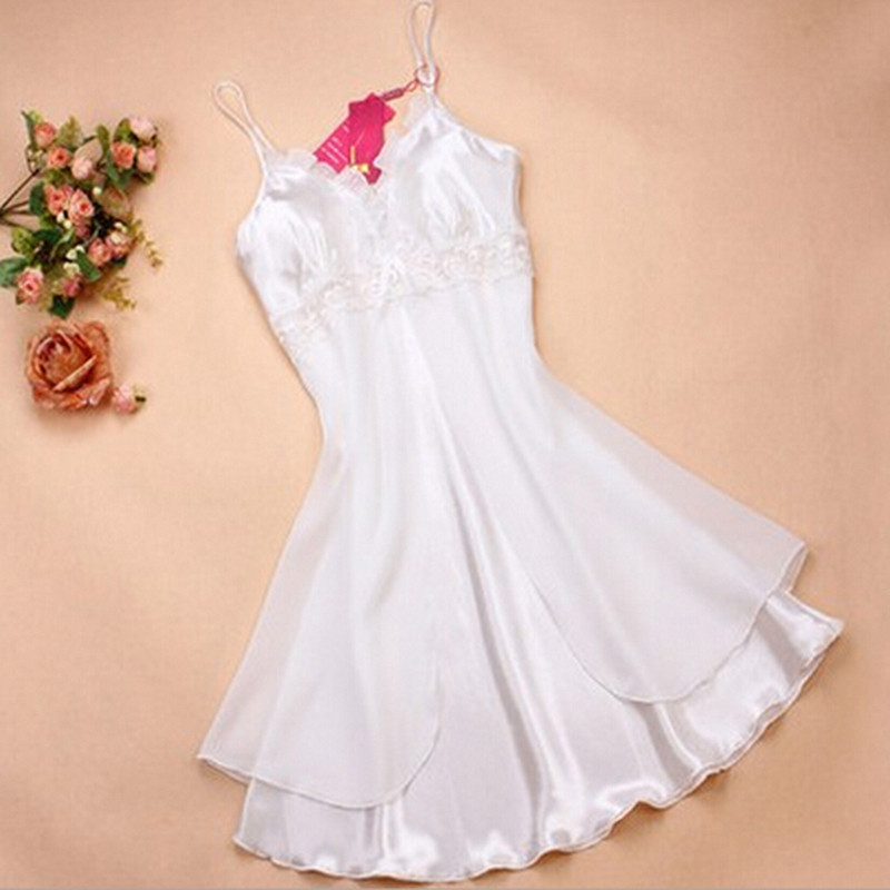 Fashion Sexy Women Lingerie Nightgown Casual Ladies Sleepwear Nightdress Camisola Vestidos Femininos Nightie Women Clothing 41