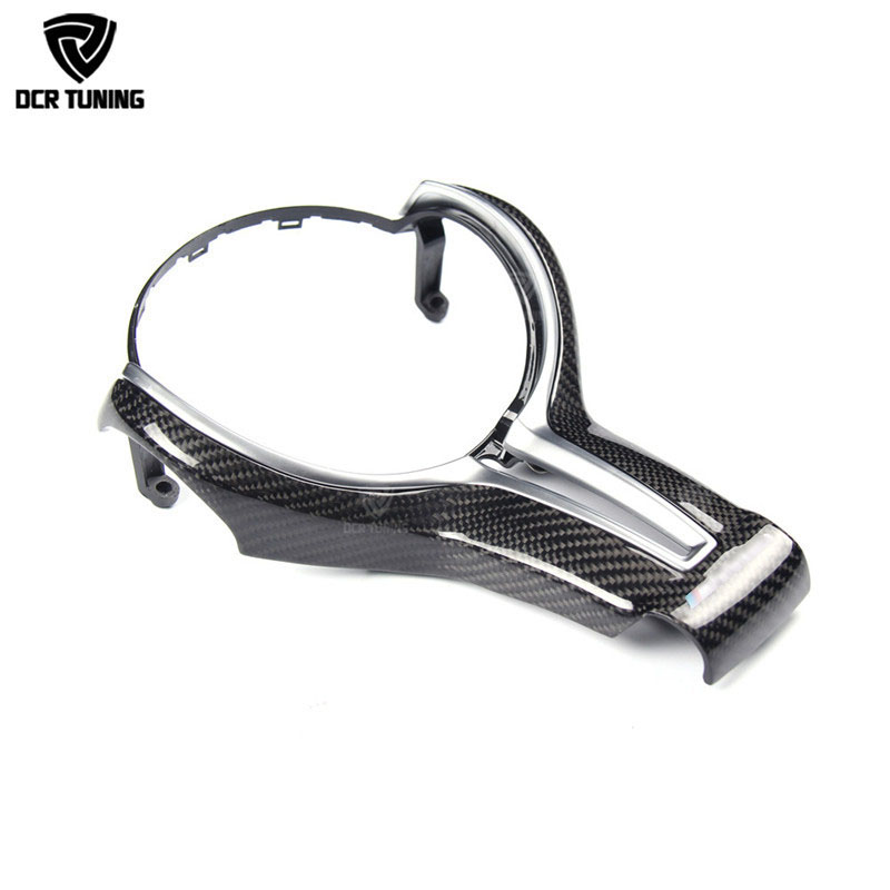 For BMW M2 F87 M3 F80 M4 F82 M6 F06 F12 F13 X5M F85 X6M F86 Carbon Fiber Steering Wheel Trim Cover for decoration car styling preminum black brass single handle pull out sprayer kitchen sink cold hot mixing faucet pull down pull out kitchen faucet