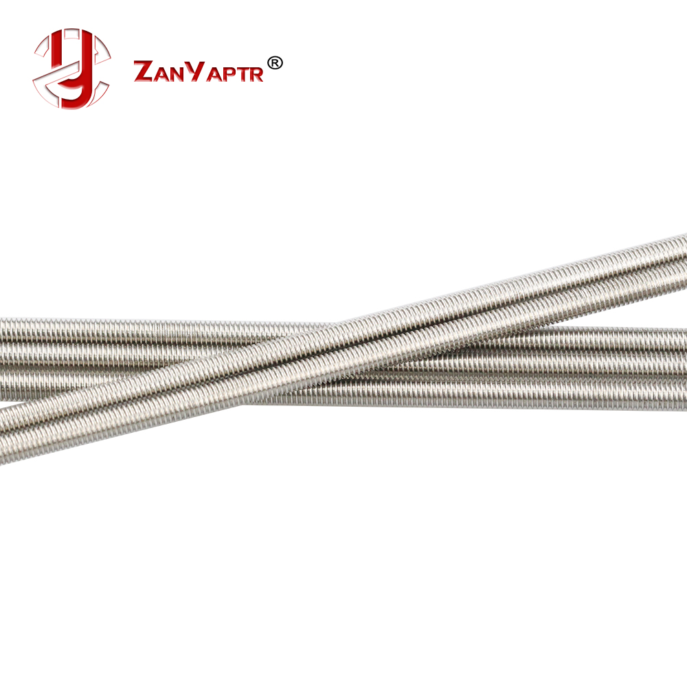 2pcs/lot M5 500mm Reprap Wilson TS 3D Printer OD 5mm Threaded Rods Screw Rods For Z Axis Free Shipping 304 Stainless Steel