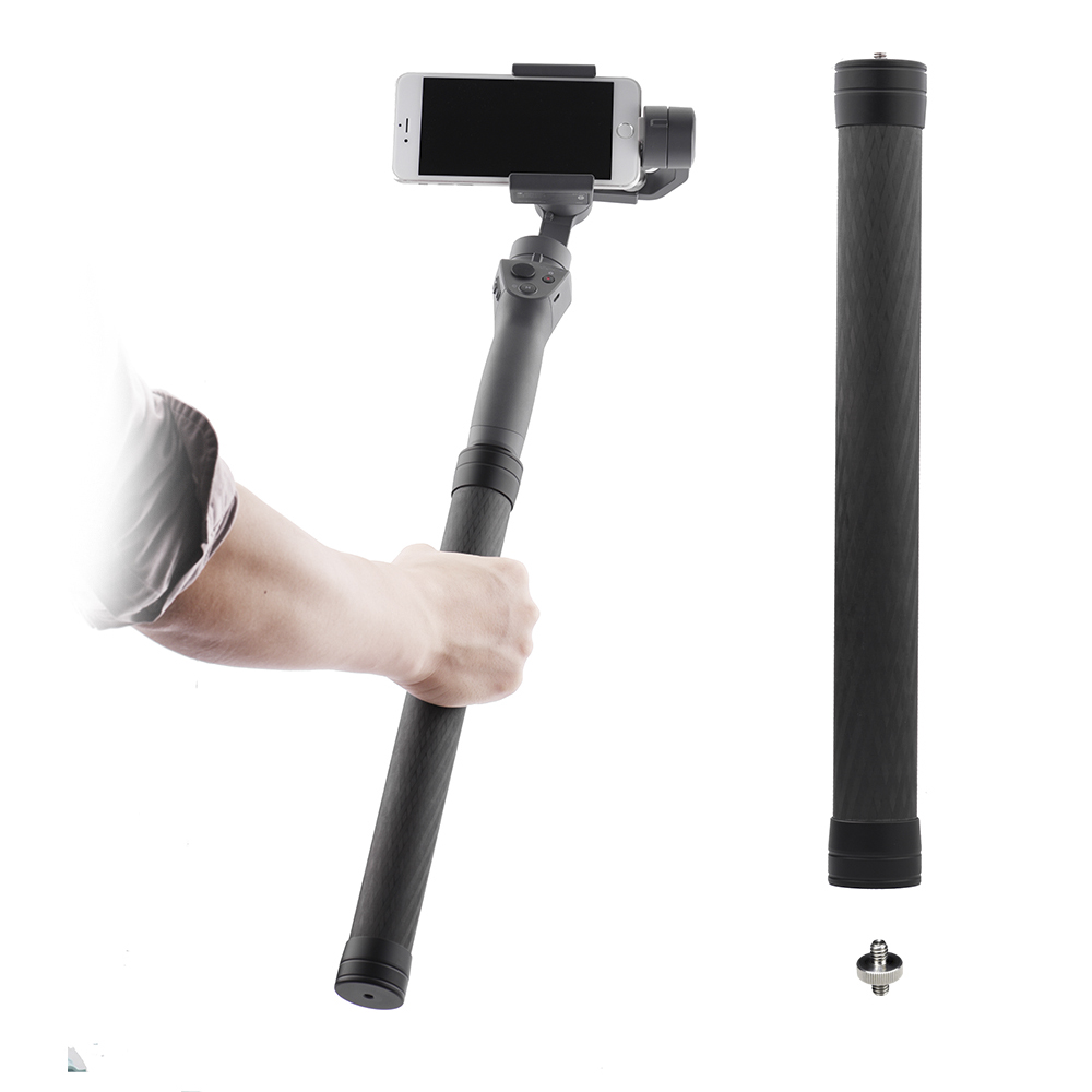 Carbon Fiber Rod Pole For Dji Osmo Mobile 2 3 Ronin-S Feiyu G5 G6 P Smooth 4 Zhiyun Crane Handheld Gimbal Extend Extension Bar
