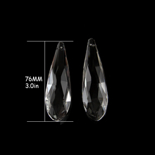 10pcs,6pcs Clear Crystal Prism Pendants Top Quality 76mm/89mm Chandelier Parts For Hotel Lamp Decor