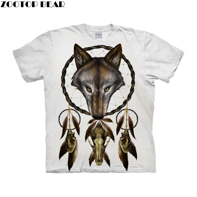 Cage the wolf by ALI Art T-shirts Men Short Sleeve Women tshirt 2019 Summer O-neck Short Sleeve Tees Tops Drop Ship ZOOTOP BEAR