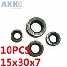 AXK 10pcs TC15x30x7 Skeleton Oil Seal 15*30*7 Seals high-quality Seals Radial shaft seals