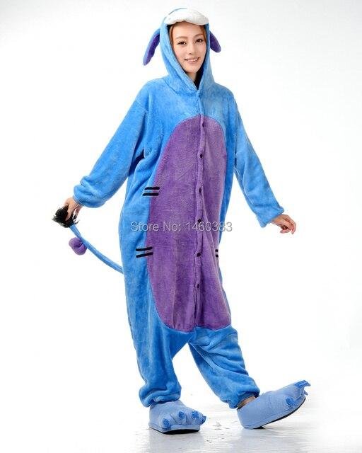 83420d91c5 2015 HOT Unisex Adult Men Women Cute Onesie Pajamas Onesie Cosplay Costume  Cartoon Animal Onesie Sleepwear Eeyore Donkey