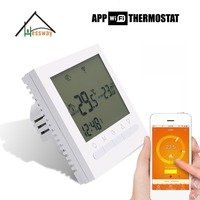 EU Gas Boiler Heating Multifunction smart thermostat WIFI APP Remote Controls Thermostats Programmable wiht Russia English