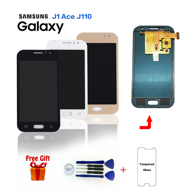 TFT LCD for Samsung Galaxy J1 Ace J110 J110H J110F J110M LCD Display+Touch Screen Digitizer Assembly With Brightness Adjustment