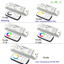 Bincolor led dimming/CCT/RGB/RGBW/CW CCT led dimmer Receiver controller+RF wireless remote for LED Strip Light lamp,DC12V-24V
