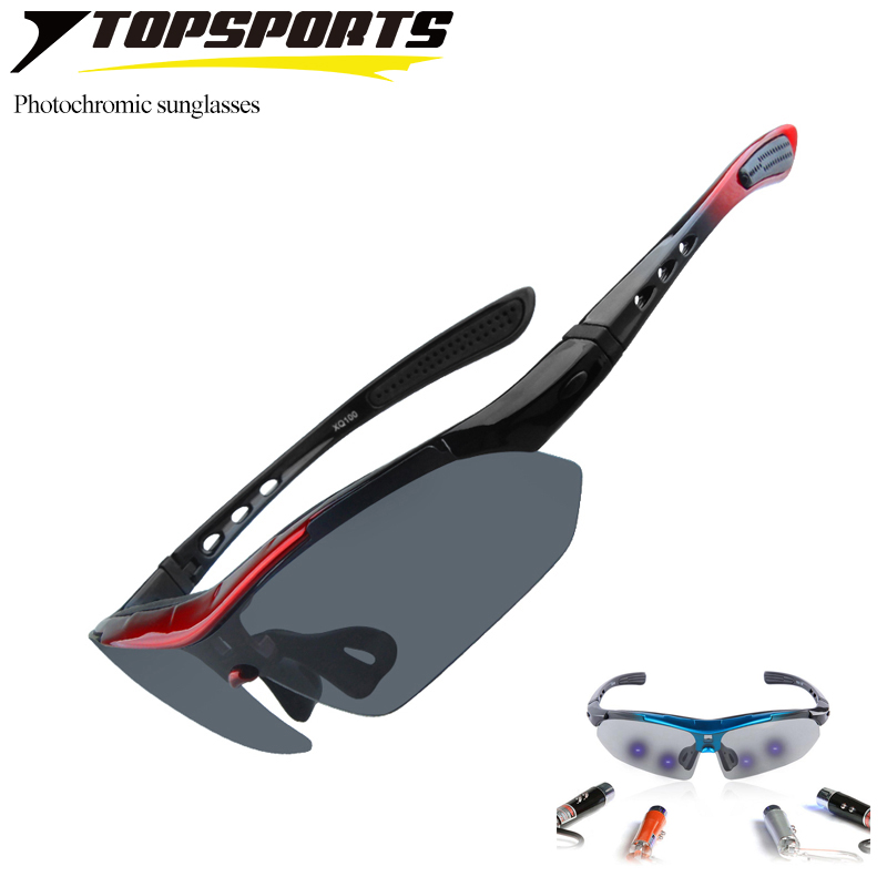 6 Lenses photochromic polarized cycling Sunglasses 2017 women man sports bike bicycle Glasses UV400 driving Eyewear