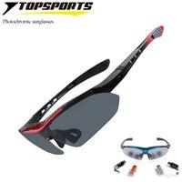 2017 1set 5 Lenses Men Brand Sports Eyewear Sunglass Set Outdoor Glasses UV400 Sports Photochromic Cycling