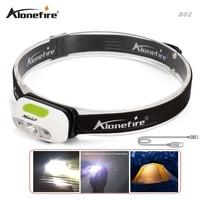 AloneFire MT B02 Induction Led Head Lamp CREE XP G2 Headlamp USB Headlight Waterproof Head Torch