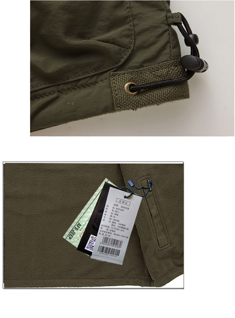 2015 Autumn Spring Casual Men Vest Coat Fleece AFS JEEP Cotton Multi Pocket 4XL Cargo Outdoor Sleeveless Jackets Waistcoat Vests (16)