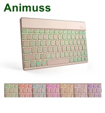 Animuss China factory sale aluminum wireless bluetooth keyboard for IOS Android Windows