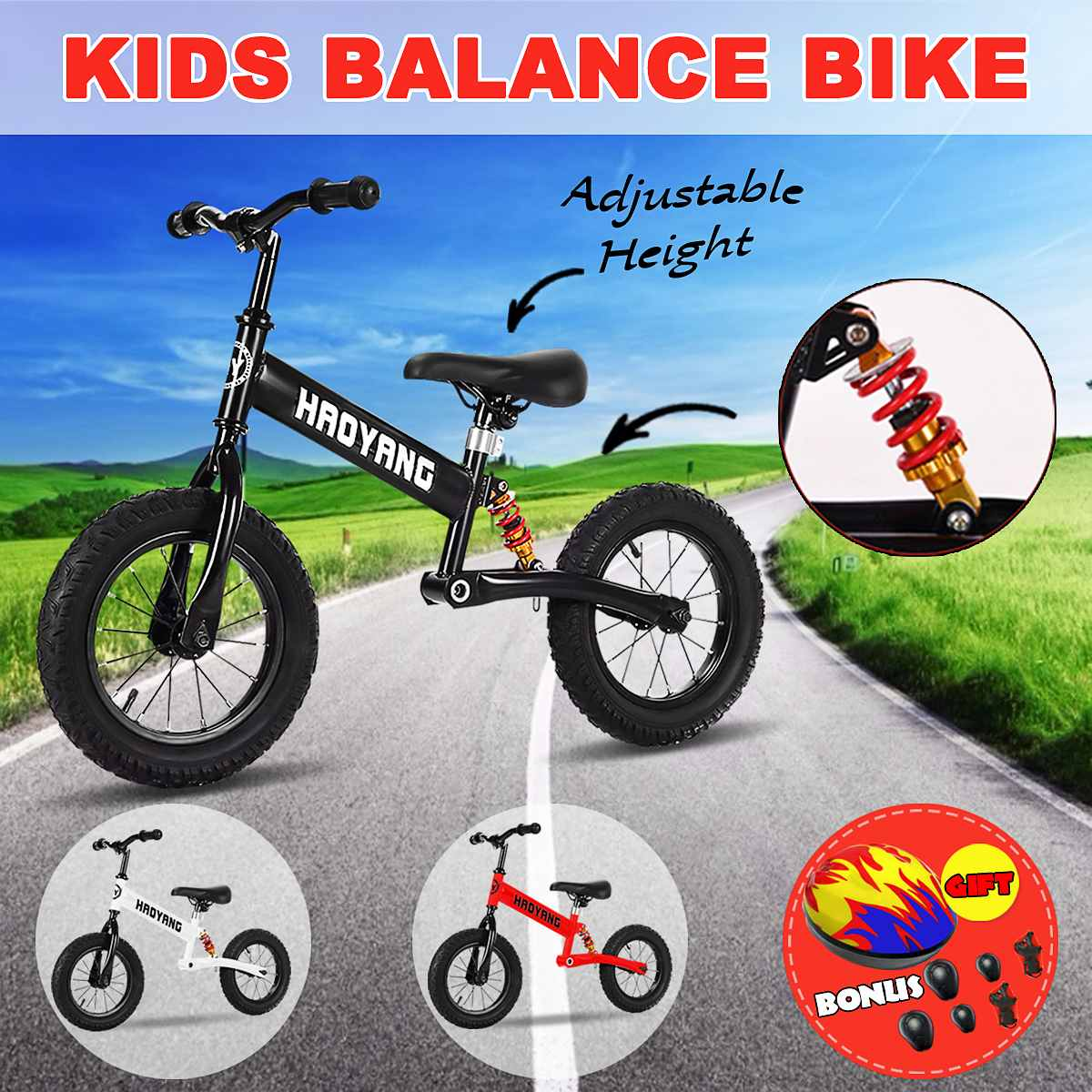 Baby Walker Balance Bike Solid Safe Children Scooter High Carbon Steel Walker Without Pedals Kids Bike With Protective GearBaby Walker Balance Bike Solid Safe Children Scooter High Carbon Steel Walker Without Pedals Kids Bike With Protective Gear