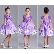 Halloween costume princess dress sofia  girls skirt fairy tale character acting clothing