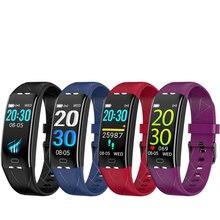 สร้อยข้อมือสมาร์ท24ชั่วโมง Dynamic Heart Rate Fitness Tracker IP68กันน้ำ Pedometer สายรัดข้อมือกีฬาสมาร์ทสำหรับ Xiaomi Android