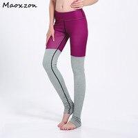 Maoxzon kobiet Patchwork Treningu Fitness Slim Legginsy Dla Kobiet Lato Nici Bawełniane Casual sportif Ioga Skinny Pants 3XL