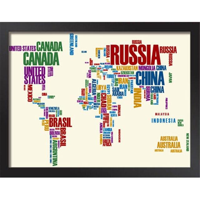 Tienda Online Enmarcado pintura carta globo mapa del mundo ...
