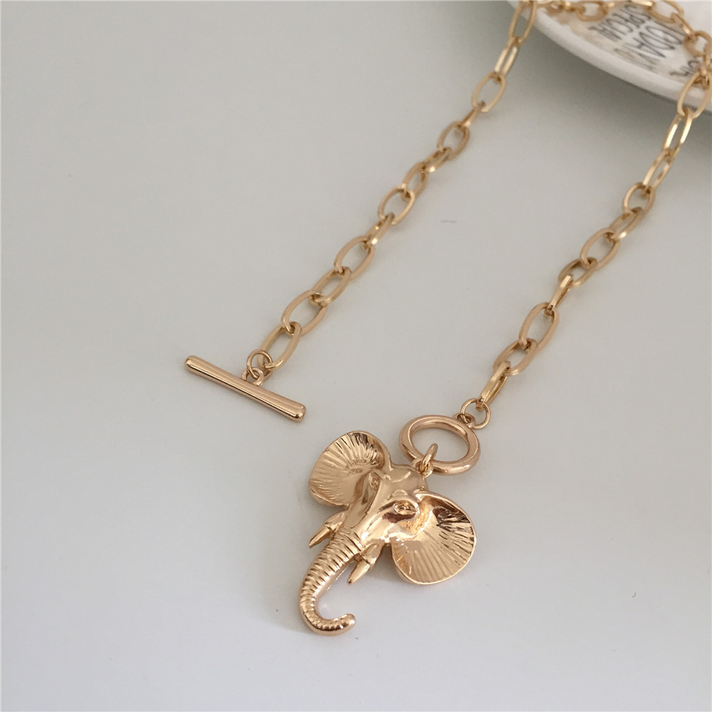 HTB1AAN8aRGw3KVjSZFDq6xWEpXaX - ELEPHANT PENDANT NECKLACE GOLD COLOR PLATING