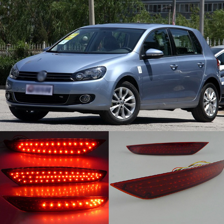 Ownsun Superb LED Reflector Rear Tail Light Bumper with Turn Signal For VW Golf 6 simulation mini golf course display toy set with golf club ball flag