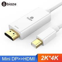 Biaze 4K мини дисплей порт Адаптер DP к HDMI 1,8 м 3 м Дисплей порт конвертер для ноутбука проектор Дисплей порт к HDMI Thunderbolt