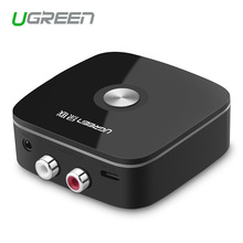 Ugreen Wireless Car 4.1 Bluetooth Receiver Adapter 3.5mm to 2RCA AUX Audio Music Adapter for Car Speaker MP3 Phone Headphone biurlink wireless bluetooth module aux in audio mp3 music adapter 12pin connector for vw for skoda
