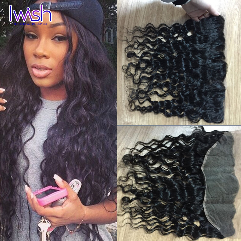 ФОТО 7a Wet And Wavy Brazilian Water Wave Lace Frontal Closure Brazilian Ocean Wave Lace Closure Virgin Hair Closure Free Part
