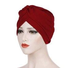 Твердый женский головной убор в индийском стиле, мусульманский хиджаб с оборками, femme musulman Cock Chemo Шапочка-тюрбан, шарф, шапка chouchou, женское для волос# P3