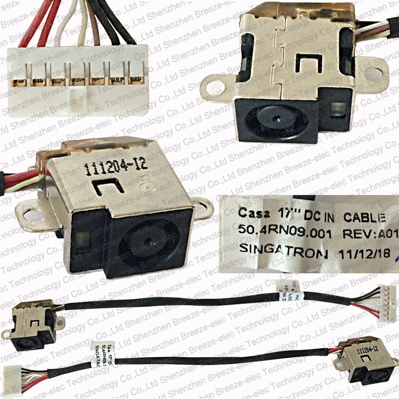 Original NEW DC Power Jack Socket Cable Connector For HP Pavilion DV6-6000 DV7-6000 DV7-6B DV7-6C DV7-6D 50.4RN09.001 639402-001