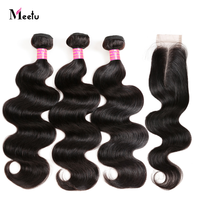 Brazilian Body Wave Sew in With Closure 100 Human Hair Bundles with Closure 2 3 Bundles