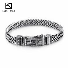 f0e0d101f 8mm New Egyptian Ankh Symbol of Life Charm Bracelets For Men Women  Stainless Steel Silver Mesh Linking Chain Bracelet Jewelry