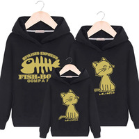 Family Matching Clothes Winter Spring Overcoat Sweaters Baby Girls Boys Kids Adult Clothing Cartoon Cotton Plush