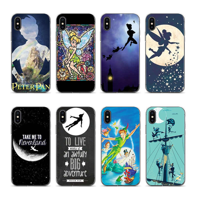 IMIDO Cartoon movie Peter Pan Soft silicone Cover case Voor iPhone 8 5 5 s SE 6 6 plus 7 7 Plus 8 plus X XS XR XSMax TPU telefoon case