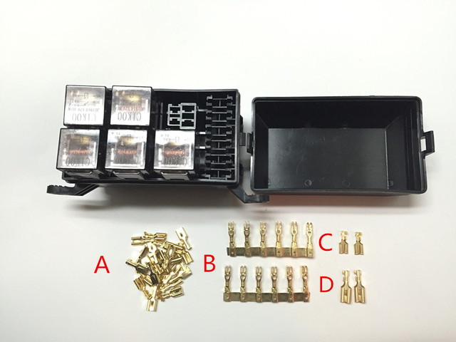 free shipping auto fuse box 6 relay relay holder 5 road the nacelle rh aliexpress com Types of Breaker Box Fuses fuse box homeowners insurance