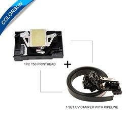 Nowy i oryginalny F180000 głowica drukująca Epson T50 A50 T60 R290 R280 RX610 RX690 L800 głowica drukująca Epson t50 L800 głowicy drukującej w Części drukarki od Komputer i biuro na