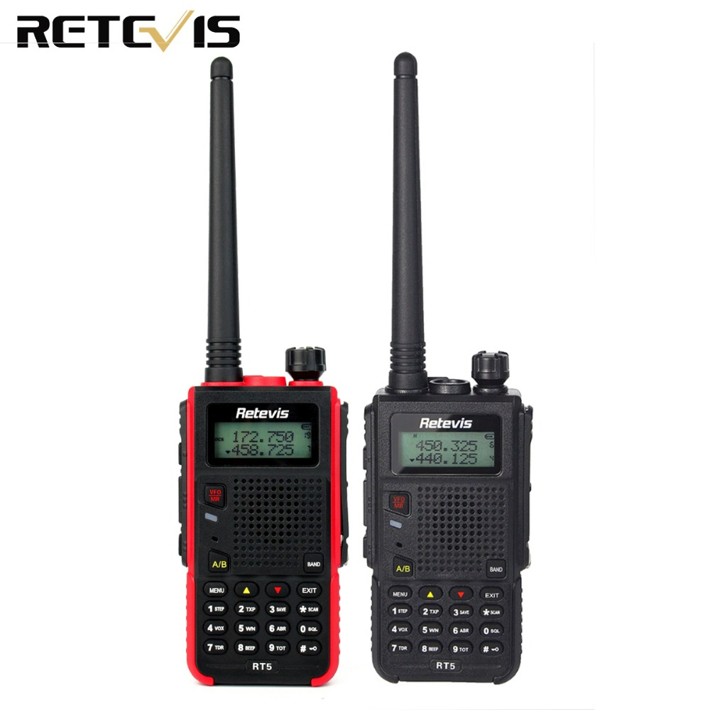 Handy Walkie Talkie 7W Retevis RT5 128CH Dual Band VHF UHF 136-174&400-520MHz VOX Ham Radio HF Transceiver