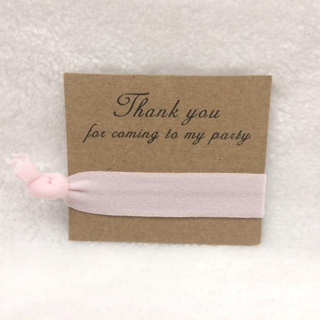 50pcs Lot Light Pink Hair Tie Favor Bracelet Hen Party Gifts Bachelorette