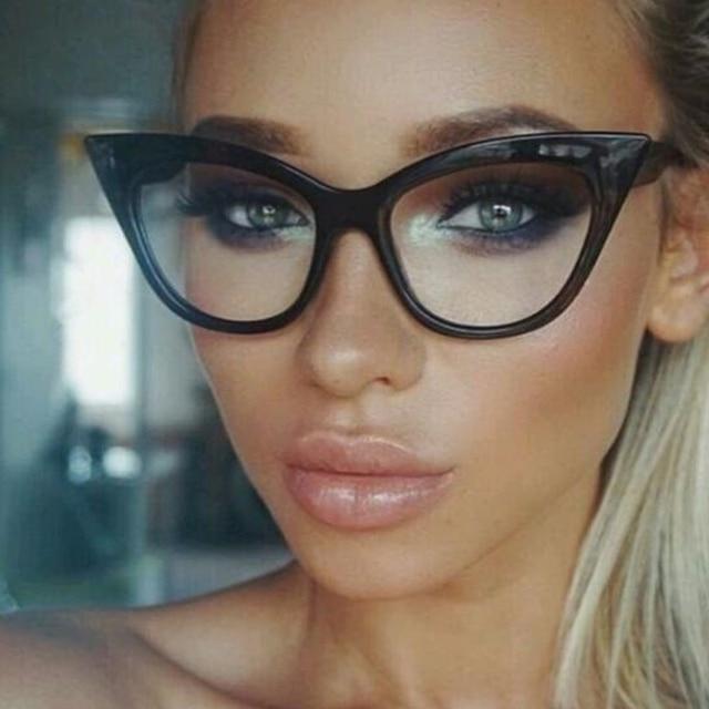 636852fa97 LongKeeper 2017 New Cat Eye Glasses Frame Women Brand Designer Optical  Eyeglasses Ladies Fashion Retro Clear Glasses