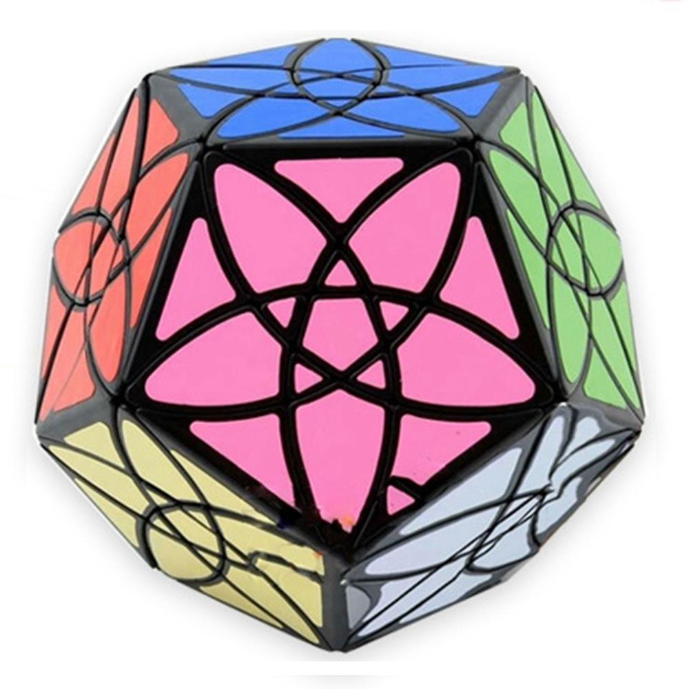 Marque Nouveau MF8 Bauhinia Dodécaèdre Megaminx Magic Speed Cube Puzzle Jouets Éducatifs Pour Enfants Enfants-Noir