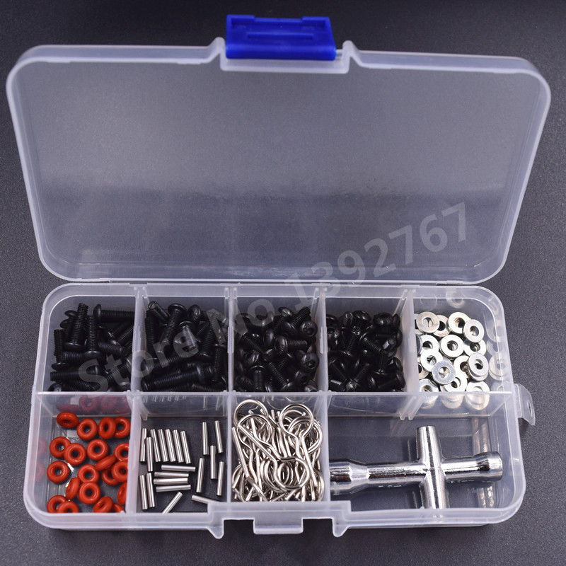 Plastic Box For Body Clips Screws M3 M6 M8 M10 M12 Small Cross Sleeve 80132 Pins O-Ring Washer For RC Car Remote Control Cars