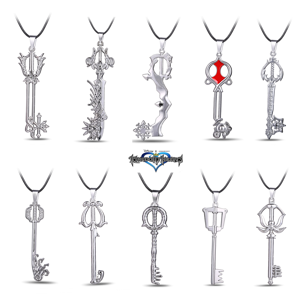 Hot Game Kingdom Hearts Metal Necklace Keyblade Pendant Cosplay Accessories Jewelry Gift ...